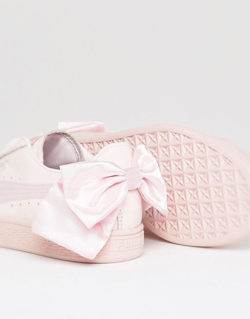 Puma suede bow trainers in pink | Girly