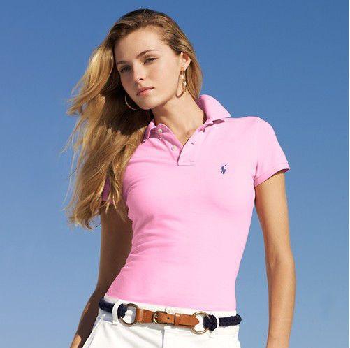 cheap ralph lauren polo shirts Women\u0027s Classic-Fit Short Sleeve Polo Shirt  Pink http: