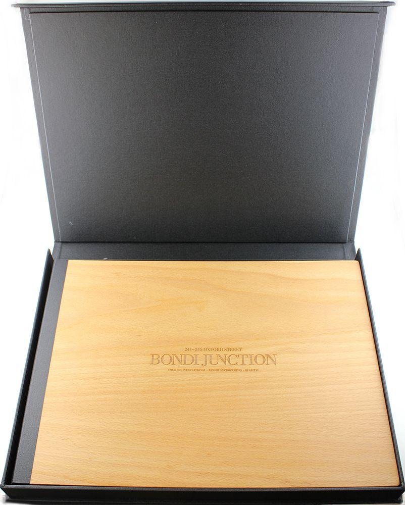 Presentation Box | A3 - Three Sided Box - Tre Style - Buckram ...