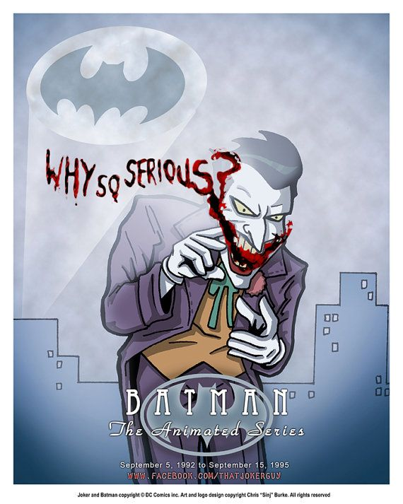 Why So Serious Btas Joker 8x10 Print By Sinj On Etsy 10 00