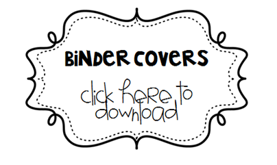 binder covers free and editable