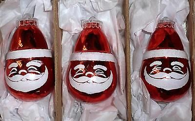 3 vintage #kitsch #1970s red santa claus bauble christmas tree #decorations m311,  View more on the LINK: http://www.zeppy.io/product/gb/2/371742118613/