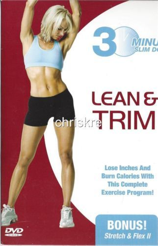 30 Minute Slim Down LEAN & TRIM Exercise DVD Video Cardio Aerobics Fat Burning