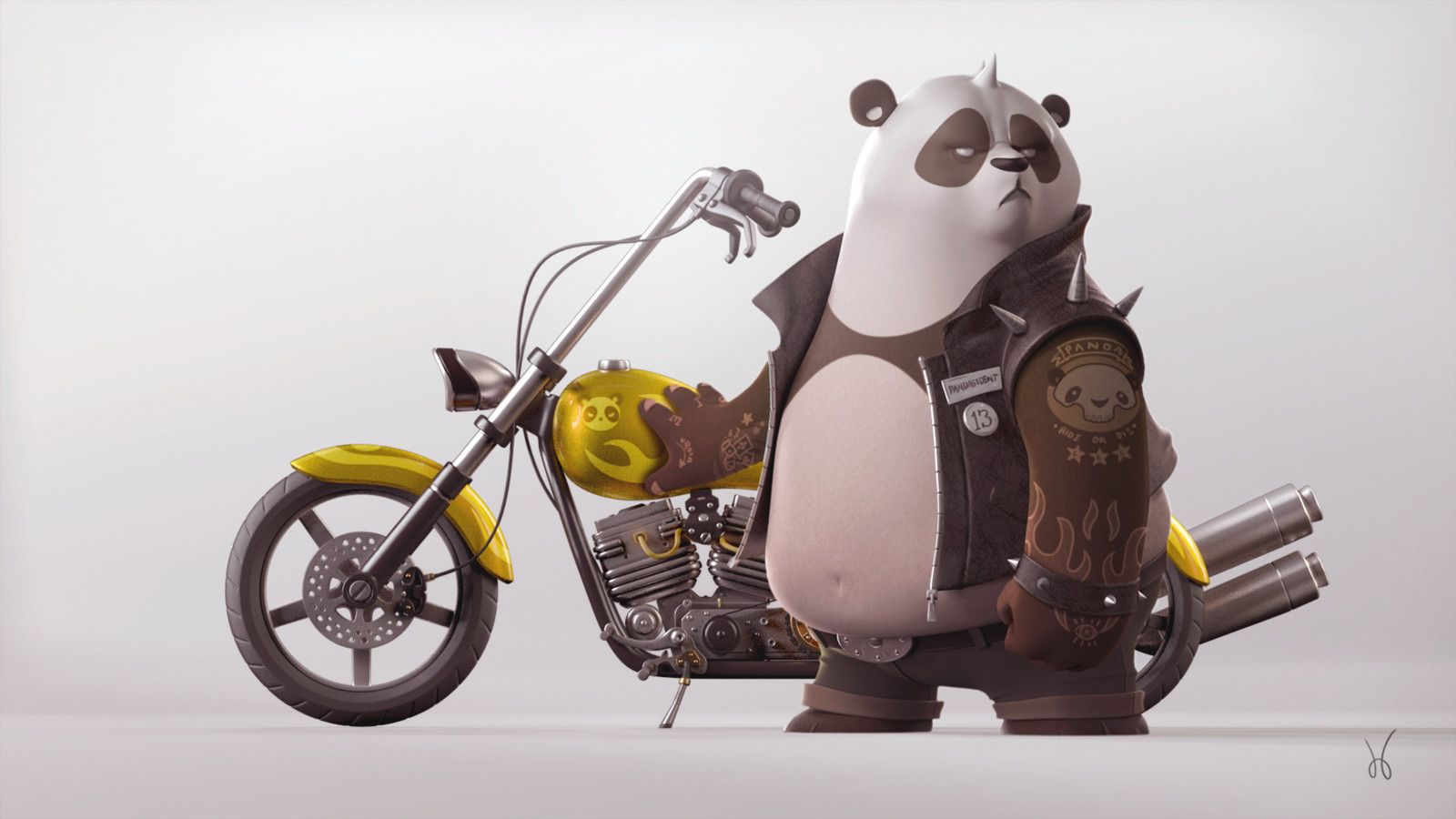 Biker Panda Jose Baldo On Artstation At Https Www Artstation