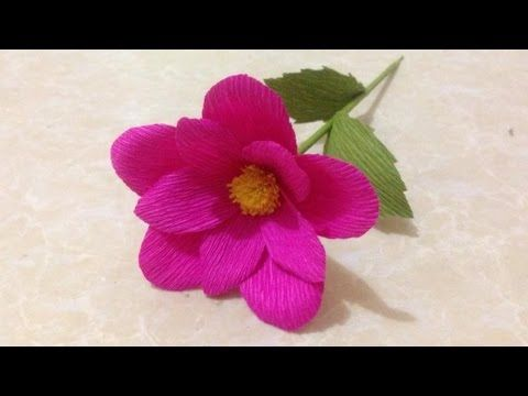 How to make rose paper flower easy origami flowers for beginners how to make simple crepe paper flowers flower making of crepe paper paper flower tutorial mightylinksfo