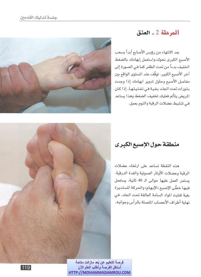 كتاب العلاج الشامل للجسم عبر تدليك اليدين والقدمين رفلكسولوجي Good Massage Natural Medicine Relaxing Massage
