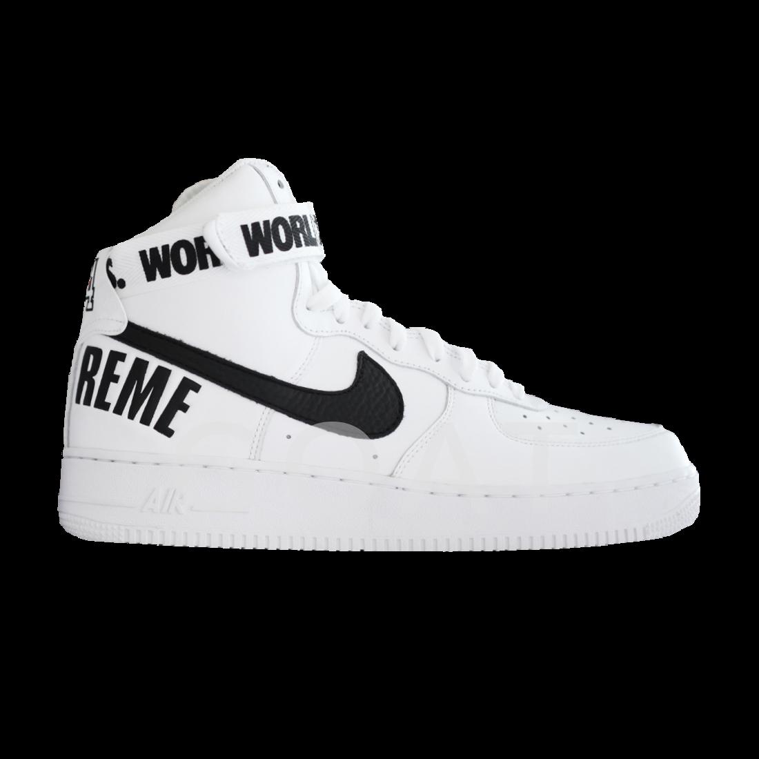 Supreme X Air Force 1 High Supreme White Nike 698696 100 Goat White Nikes Air Force 1 High Nike