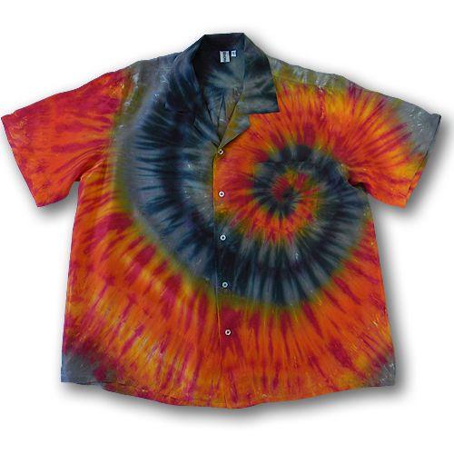 608f159c2 2Dye4 Hand Dyed Adult Large Silk Tie Dye Hawaiian Shirt ...   tie ...