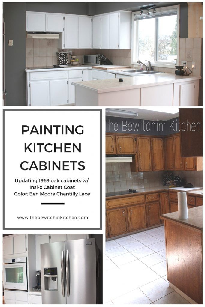 painting kitchen cabinets - transforming dated 1970s oak cupboards