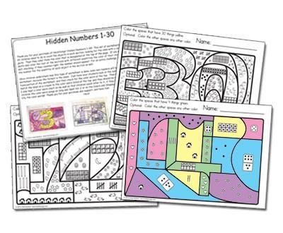 Hidden Numbers 1-30 Worksheets Worksheets, Number worksheets and - physical assessment form