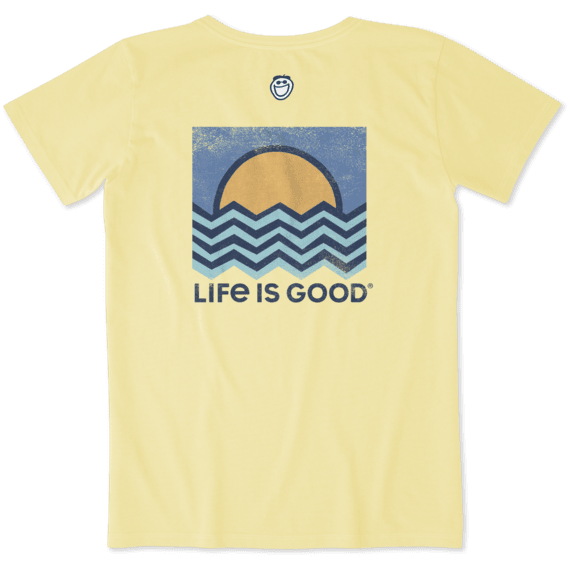 304480c0715 Shop Women s Ocean Angles Crusher Tee s at the official Life is Good® store.  Get free shipping on orders over  49. 10% of net profits go to help kids in  ...