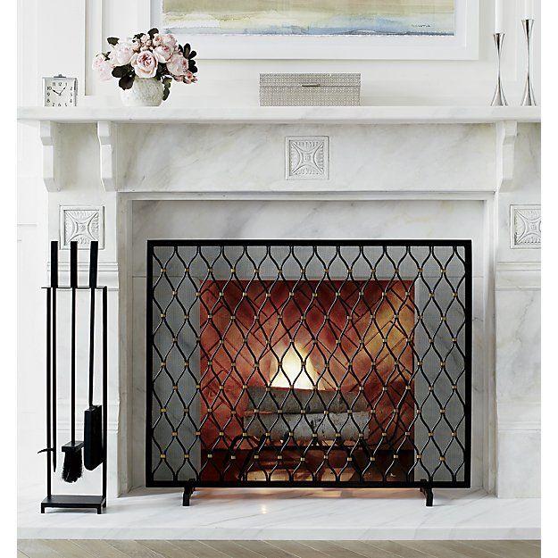 Corbett Bronze Fireplace Screen Fireplace Screens Glass