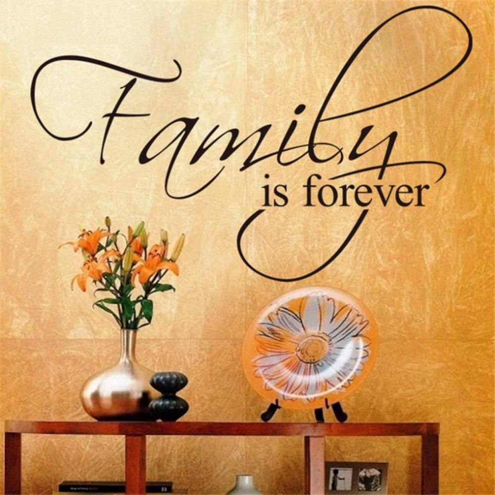 Family Is Forever Vinyl Wall Decal Art Saying Home Decor Sticker ...