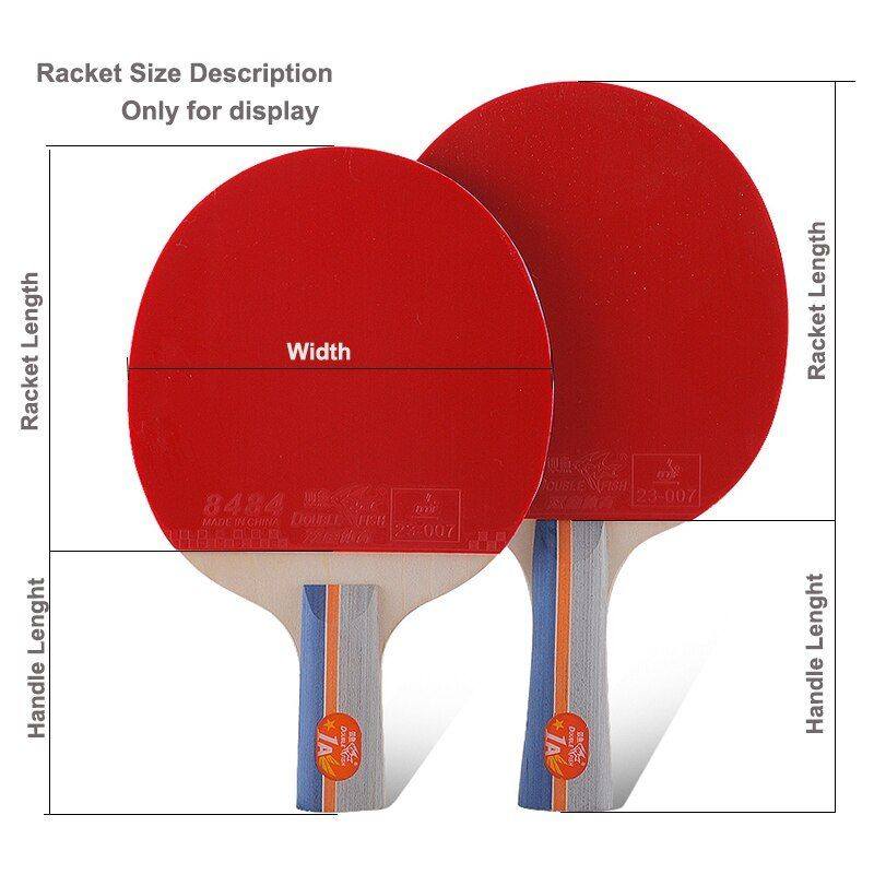 Original Double Fish 1star 1a Table Tennis Racket Racquet Wood Pinpong Bat Flared Handle Paddle For Beginner And Recr Table Tennis Racket Table Tennis Racquets