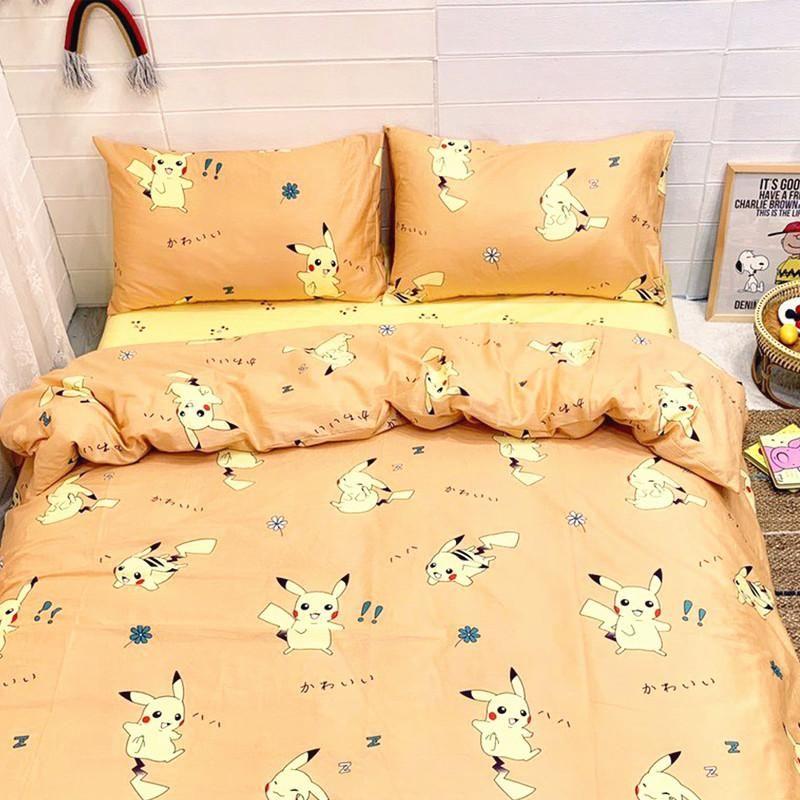 Kawaii Pikachu Bed Sheet Quiltcover Pillowcover Pn1258 Kawaii
