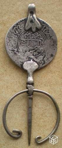 Pièce Monnaie Fibule Dirham 1336 Maroc Collection Yvelines