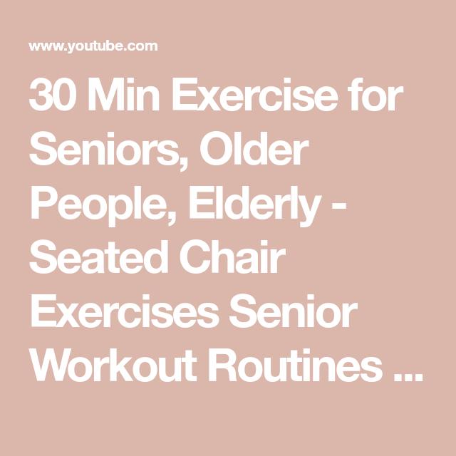 Senior workout routines