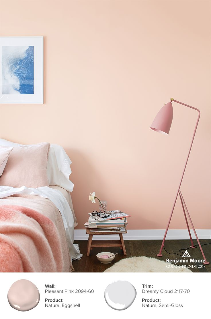 Color Trends Color Of The Year 2020 First Light 2102 70 Benjamin Moore Bedroom Wall Colors Pink Paint Colors Room Colors
