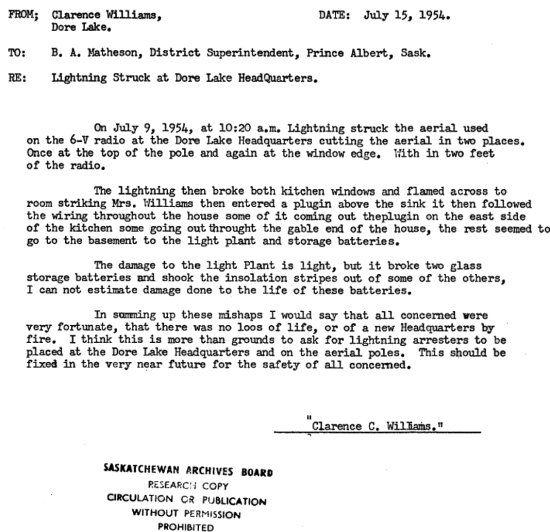 Lightning strike letter NORTHERN SASKATCEWAN Pinterest - permission letter