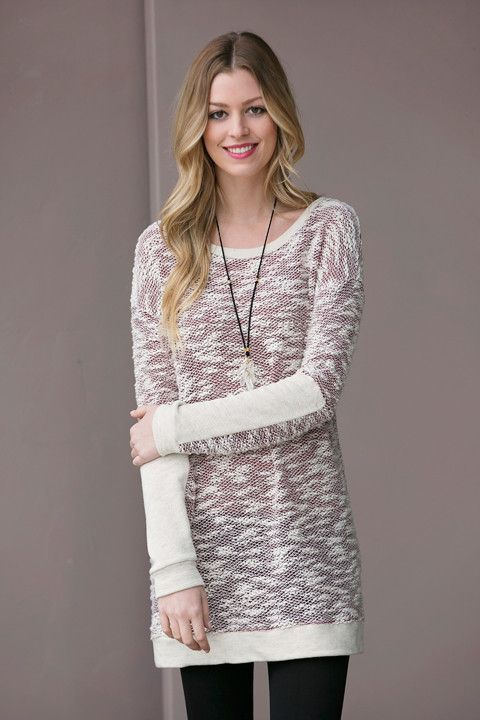 Cozy Two Tone Tunic