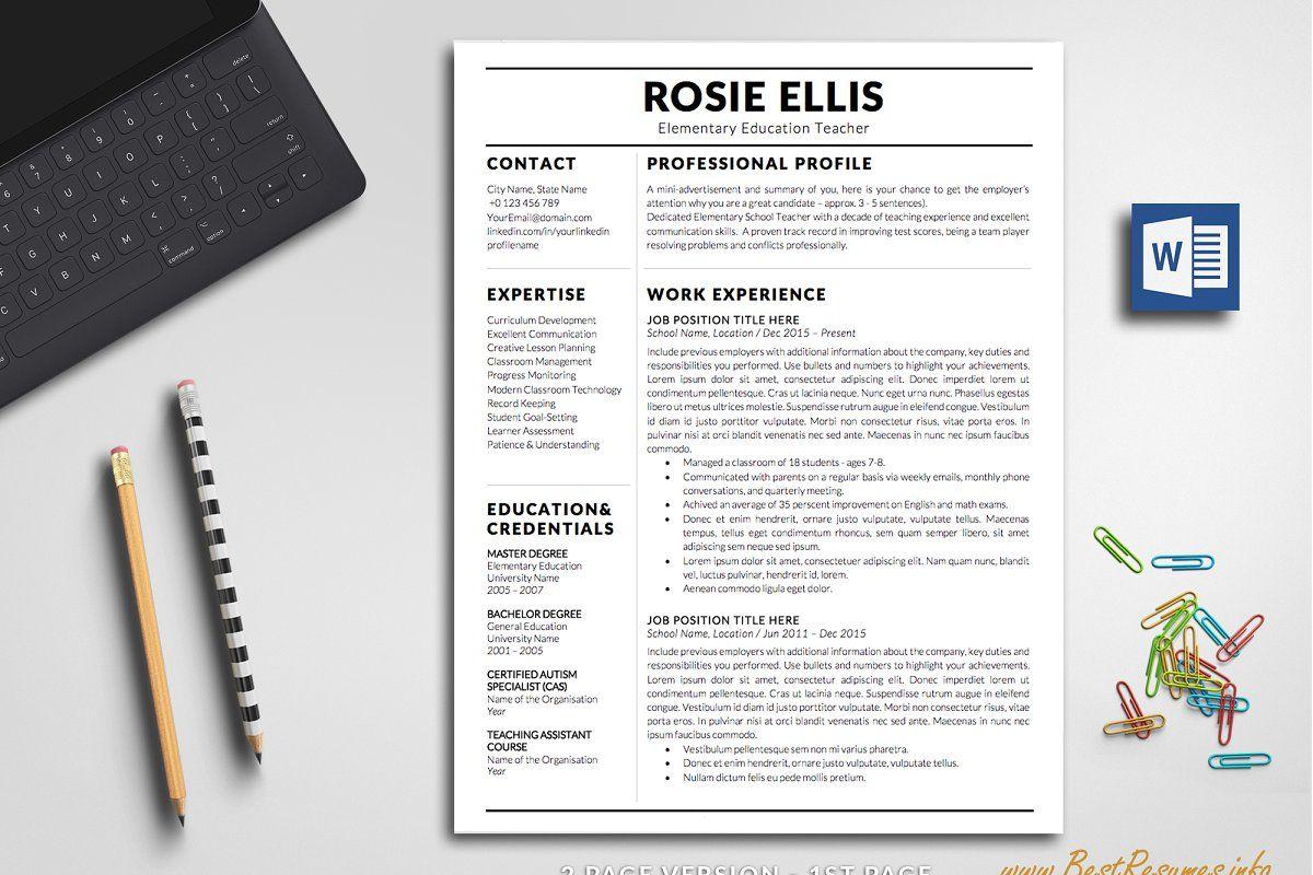 Modern Resume Template Word in 2020 Modern resume