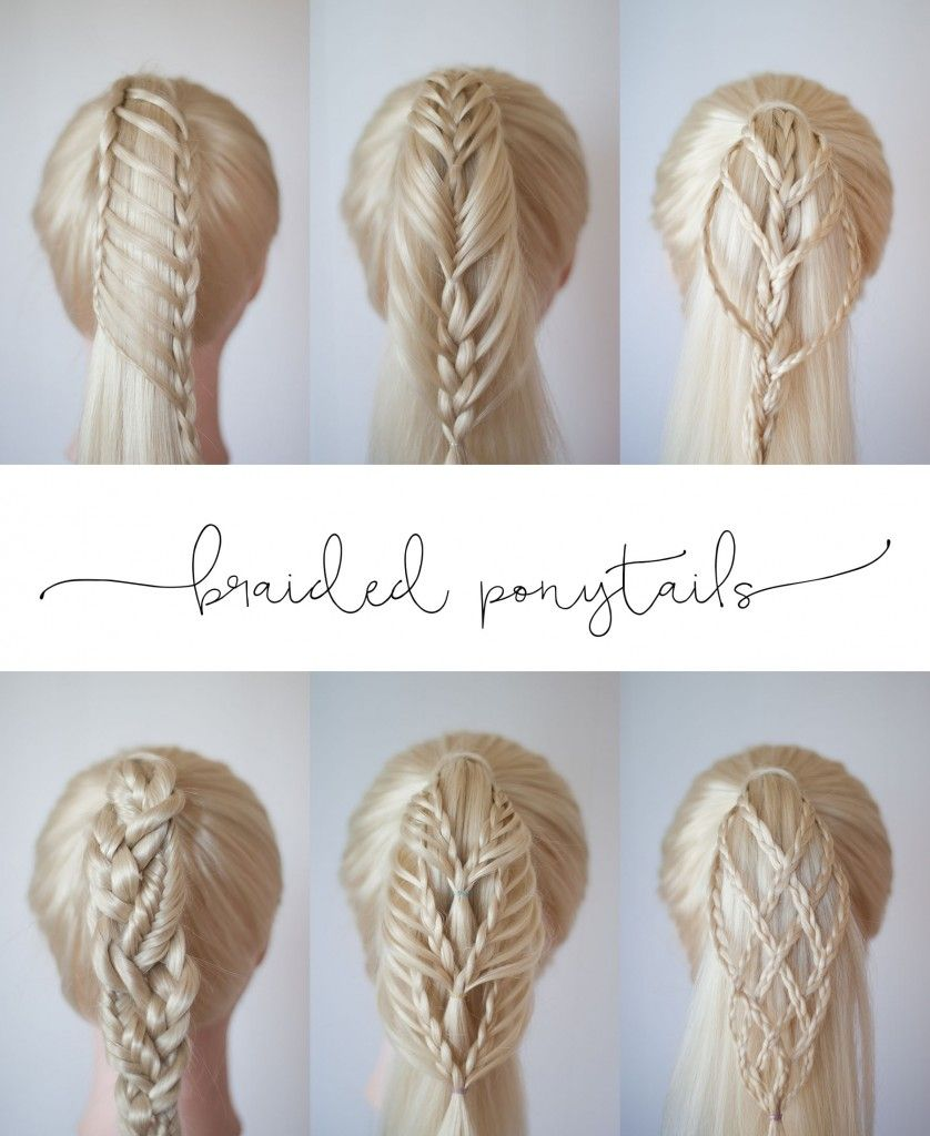 Braided ponytails cute girls hairstyles braided hair ideas to