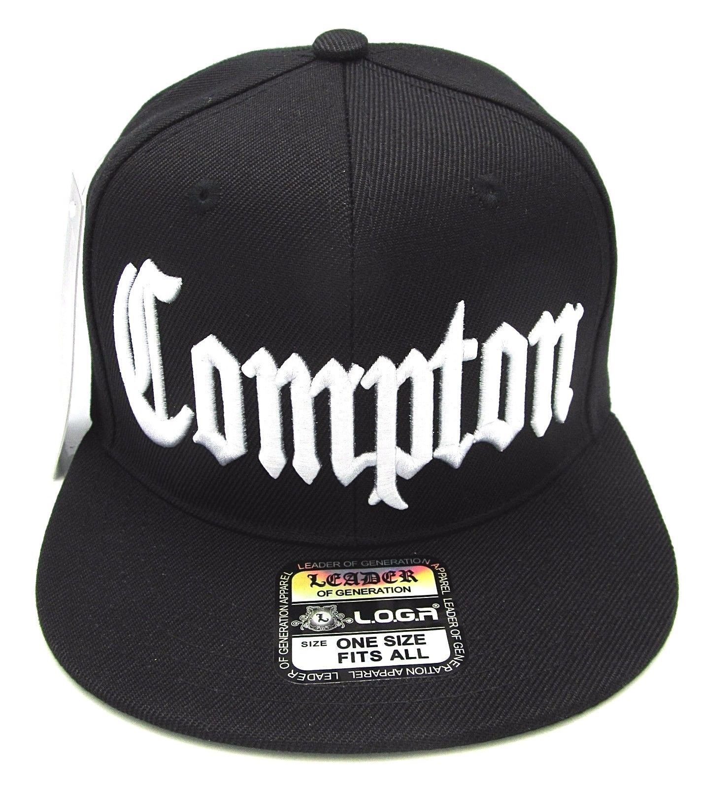 best sneakers 0bd61 f7be8 Compton Snapback Hat South Central Los Angeles City Cap Black La Raiders Nwt