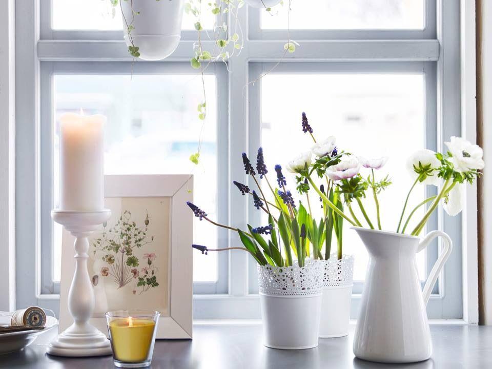 Just pretty from ikea wohnen pinterest k chen fensterbank fenster dekorieren und Dekoration fensterbank innen