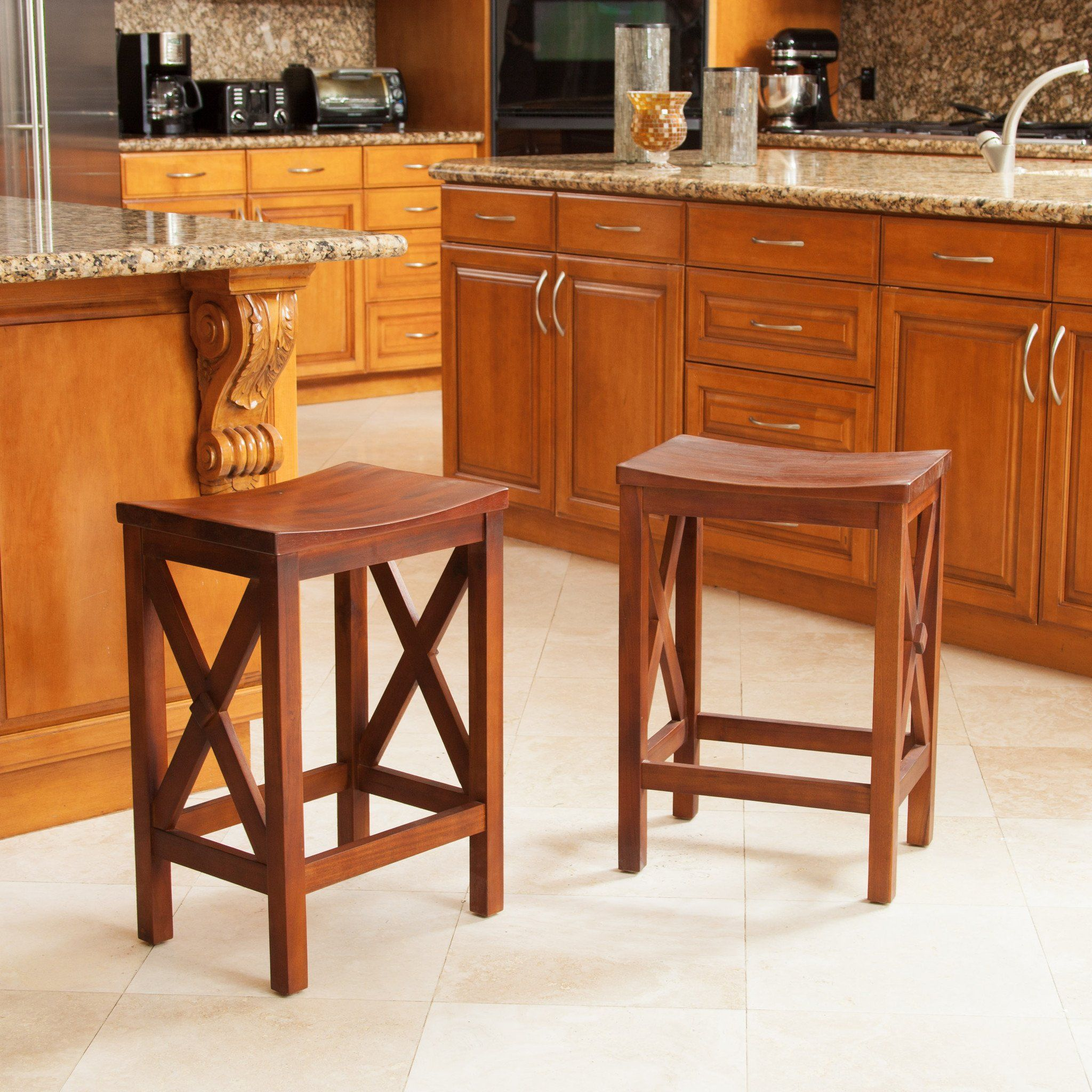 Ad Casselberry Brown Mahogany Counter Stools (Set Of 2) #Deals