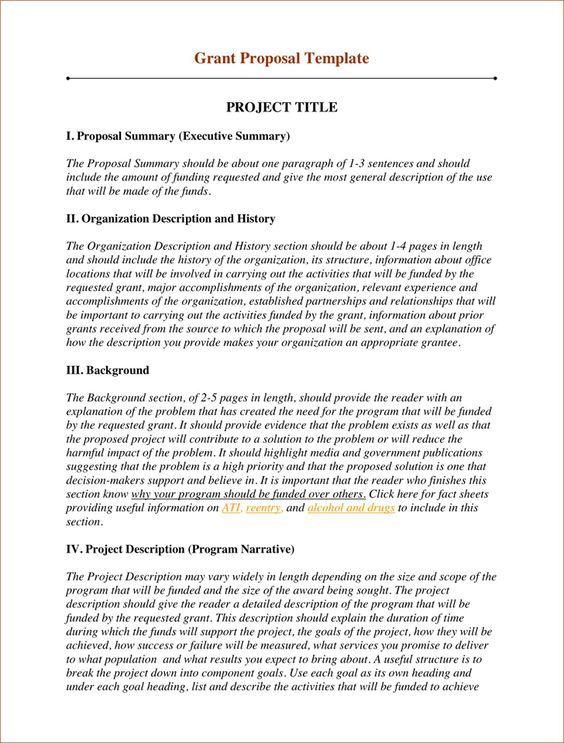 Grant Proposal Template 2 | Useful Websites | Grant proposal