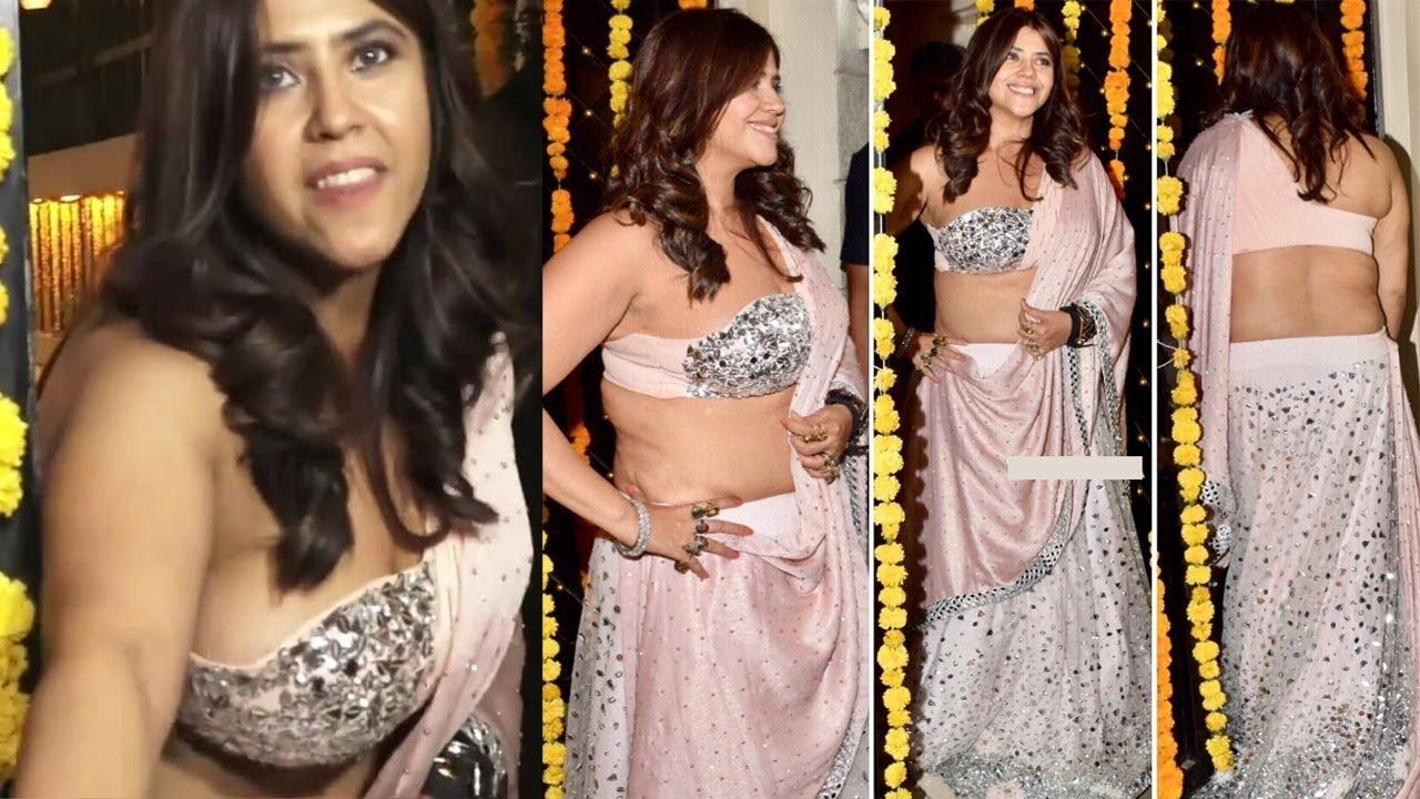 Ekta Kapoor Looks So Hot In Diwali Party Ekta Kapoor Celebrates Diwal Beautiful Bollywood Actress Indian Celebrities Indian Actresses