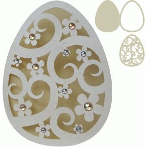 silhouette design store search designs easter egg shape card