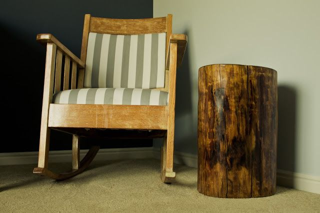 How to make an end table out of a tree stump.