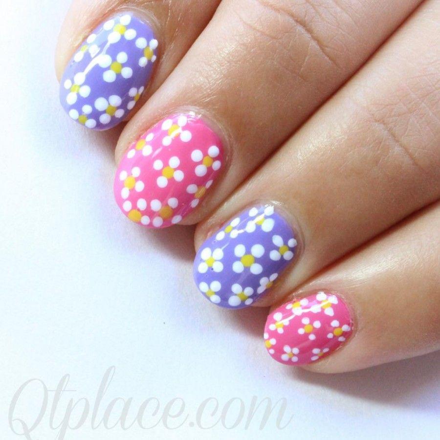 Spring Flower Nail Design | Beauty/ Nails | Pinterest | Flower nail ...