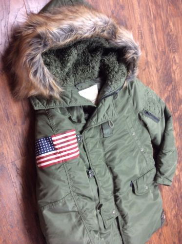 2b38ff12d4 Denim-amp-Supply-Ralph-Lauren -Men-Military-USA-Flag-Snorkel-Down-Jacket-Coat-Parka
