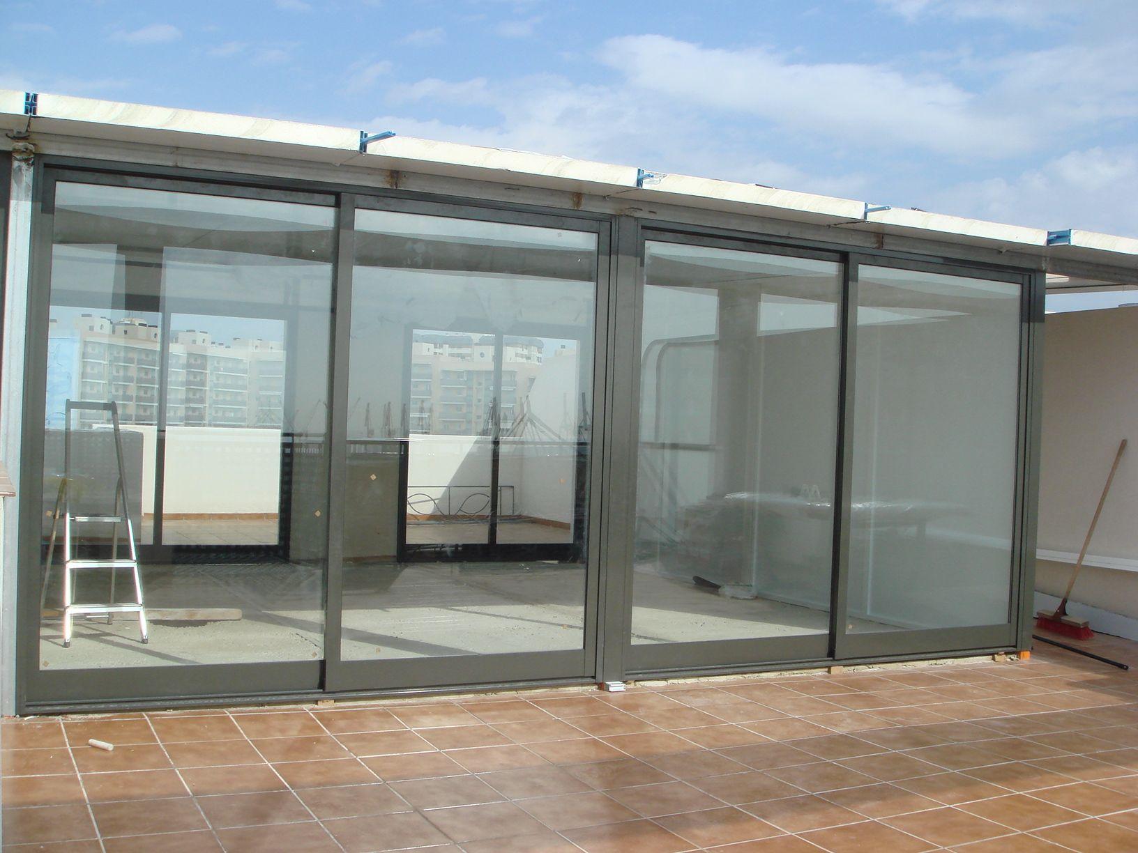 Cerramiento de terraza de tico de alicante proceso for Cerramiento aluminio terraza
