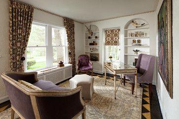 Lake Forest Historic Mediterranean - eclectic - Home Office - Chicago - Buckingham Interiors + Design LLC