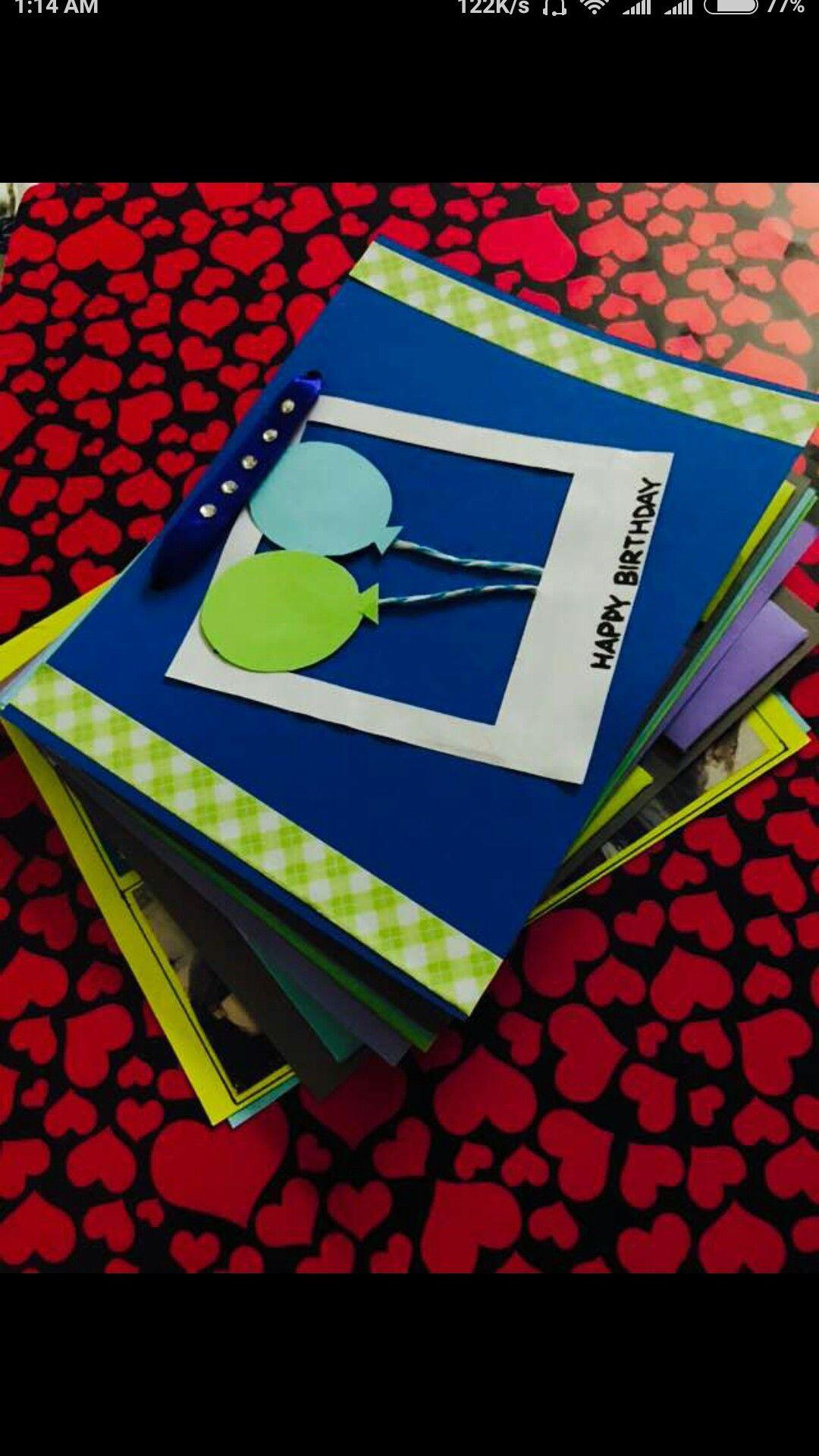 handmade cute little bday scrapbook