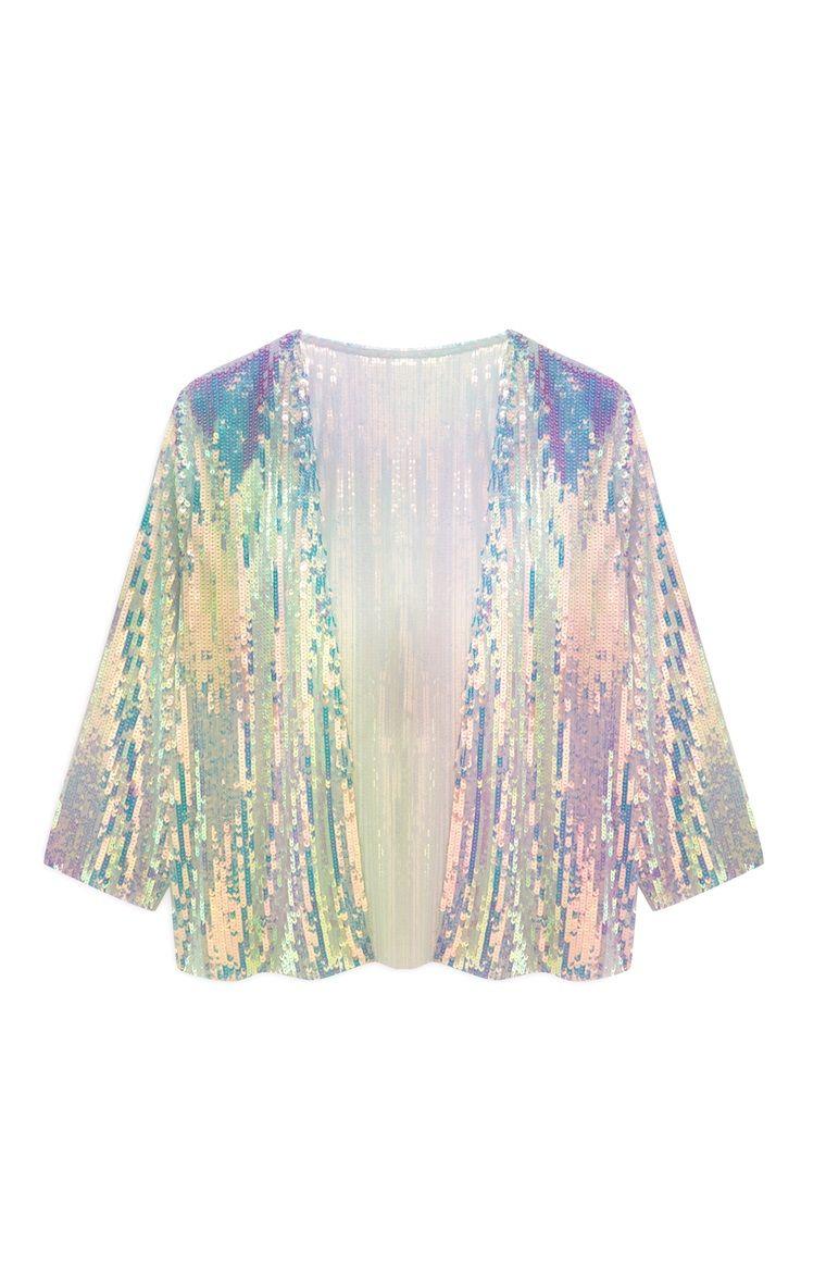 fbe2ab95 Primark - Mermaid Sequin Kimono | Pretty Things | Sequin kimono ...