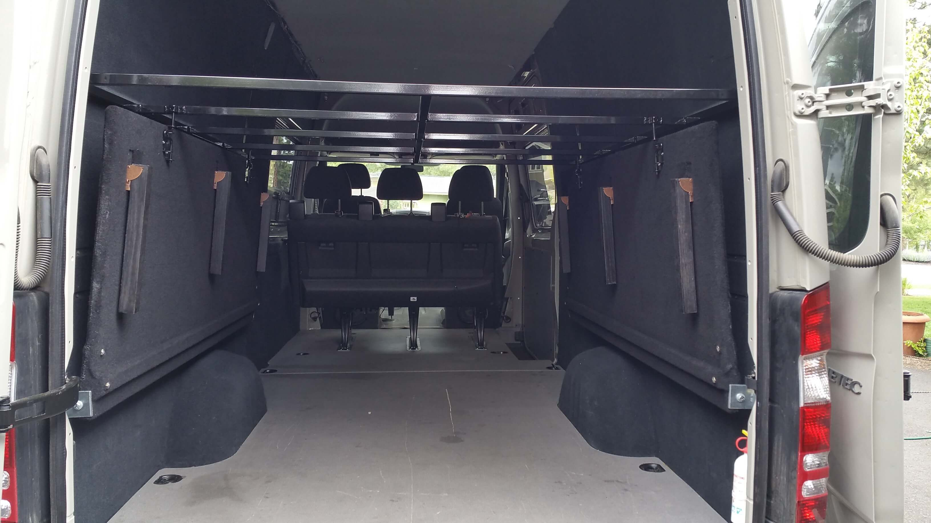 Rv Folding Bed Sprinter Bed We Added Two Rv Folding Bunk Beds Just
