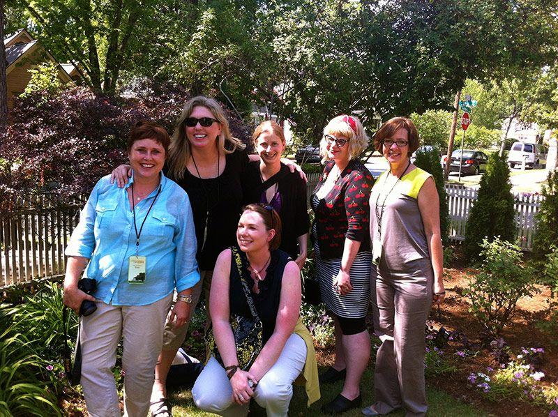 Happy garden gals. @Dee Nash @Jean Ann Van Krevelen @Genevieve Schmidt  @Carolyn Binder @Amanda Thomsen and Danielle