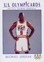 1bbee66f6f4 1992 Michael Jordan Olympic Card | Dream Team | Michael jordan ...