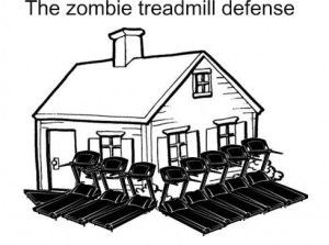 The Zombie Treadmill Defense! lol