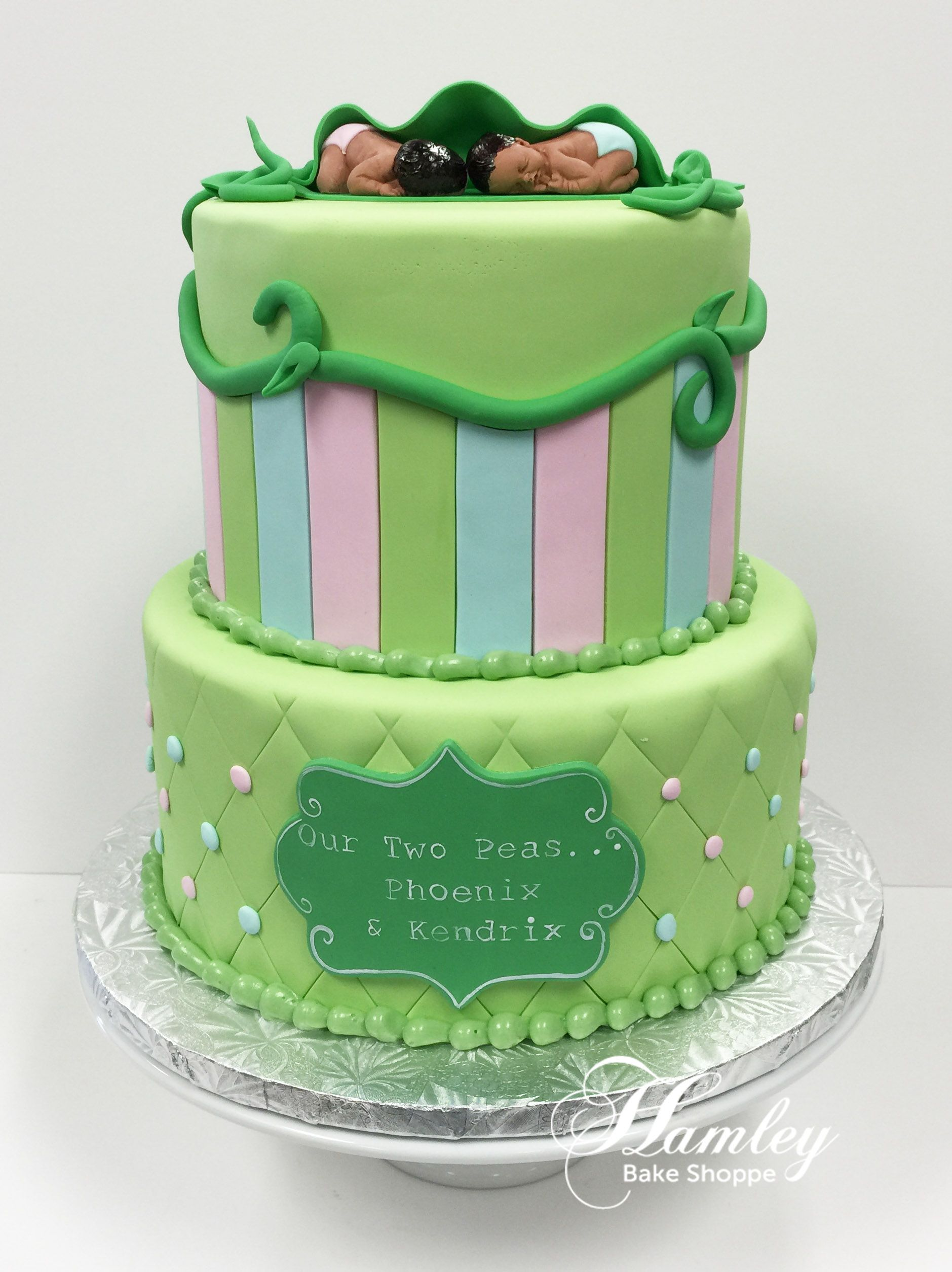 Two Peas Pod Baby Shower Cake Images Showers Ideas In A Pea Diy