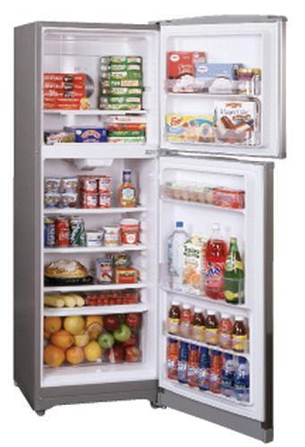 Summit FF1325SS Frost-Free Top Mount Apartment Size Refrigerator ...