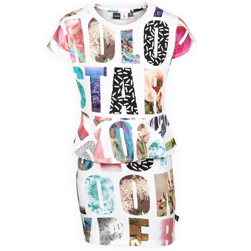 Molo Kids Online Shop Trendy Meisjes Jurk Christina Molo Star Kinderkleding, Kindermode en Babykleding www.kienk.nl