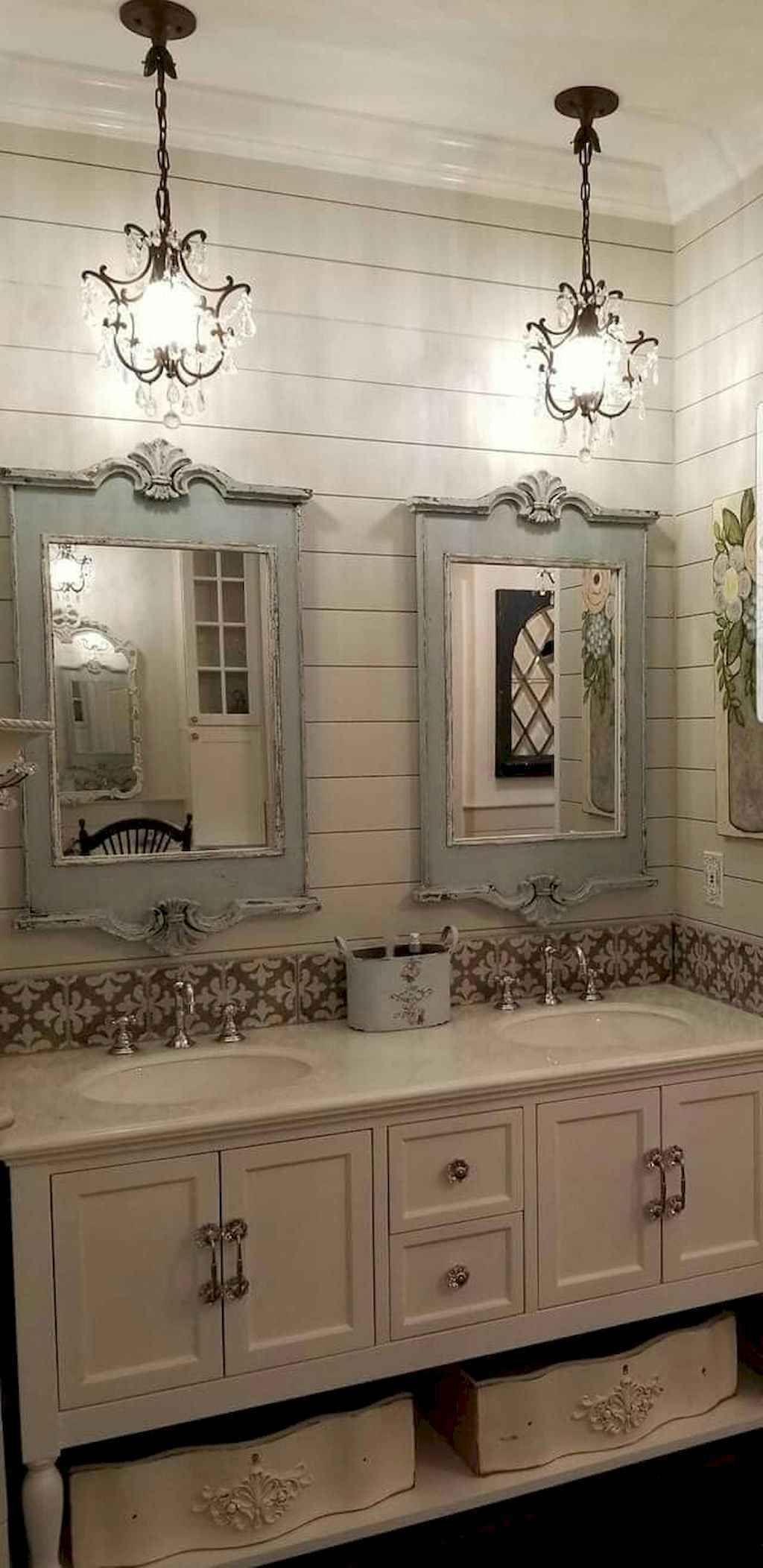 54 rustic farmhouse bathroom remodel ideas in 2020  dream