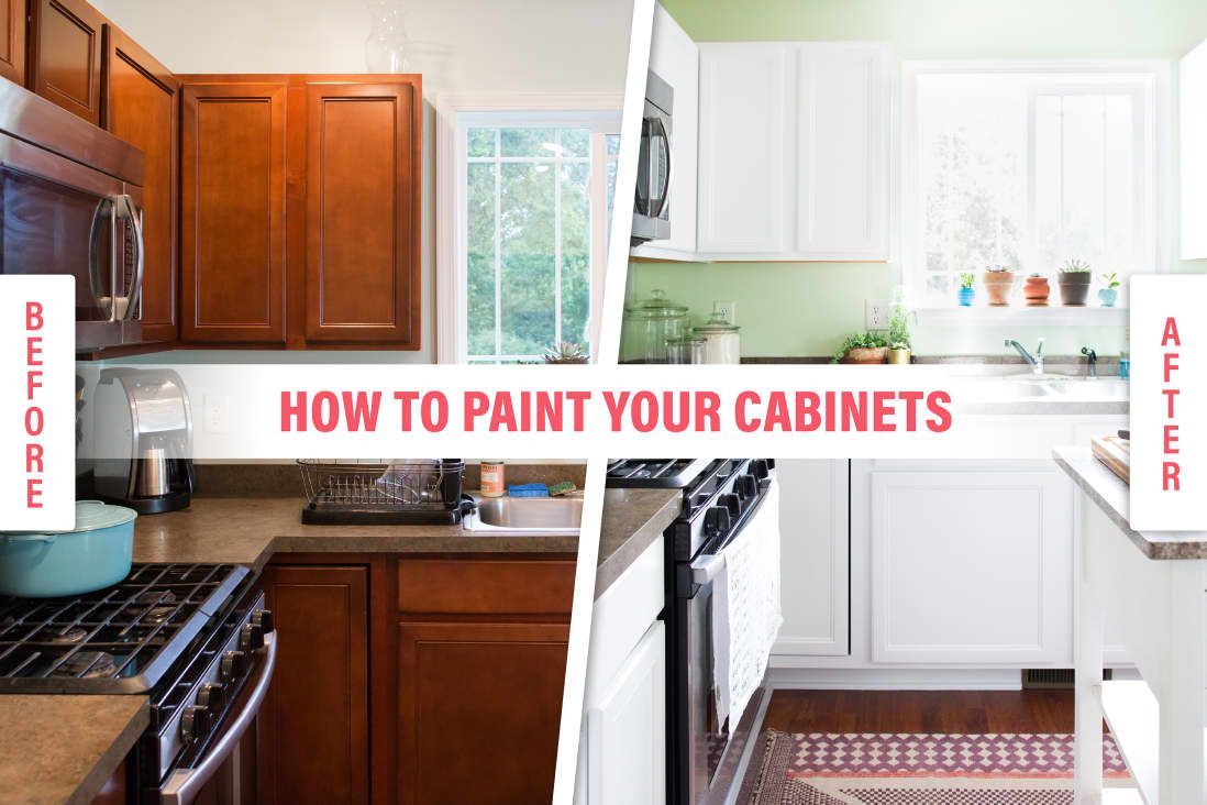 How To Paint Your Kitchen Cabinets So It Looks Like You Totally Replaced Them Painting Kitchen Cabinets White Wooden Kitchen Cabinets Old Kitchen Cabinets