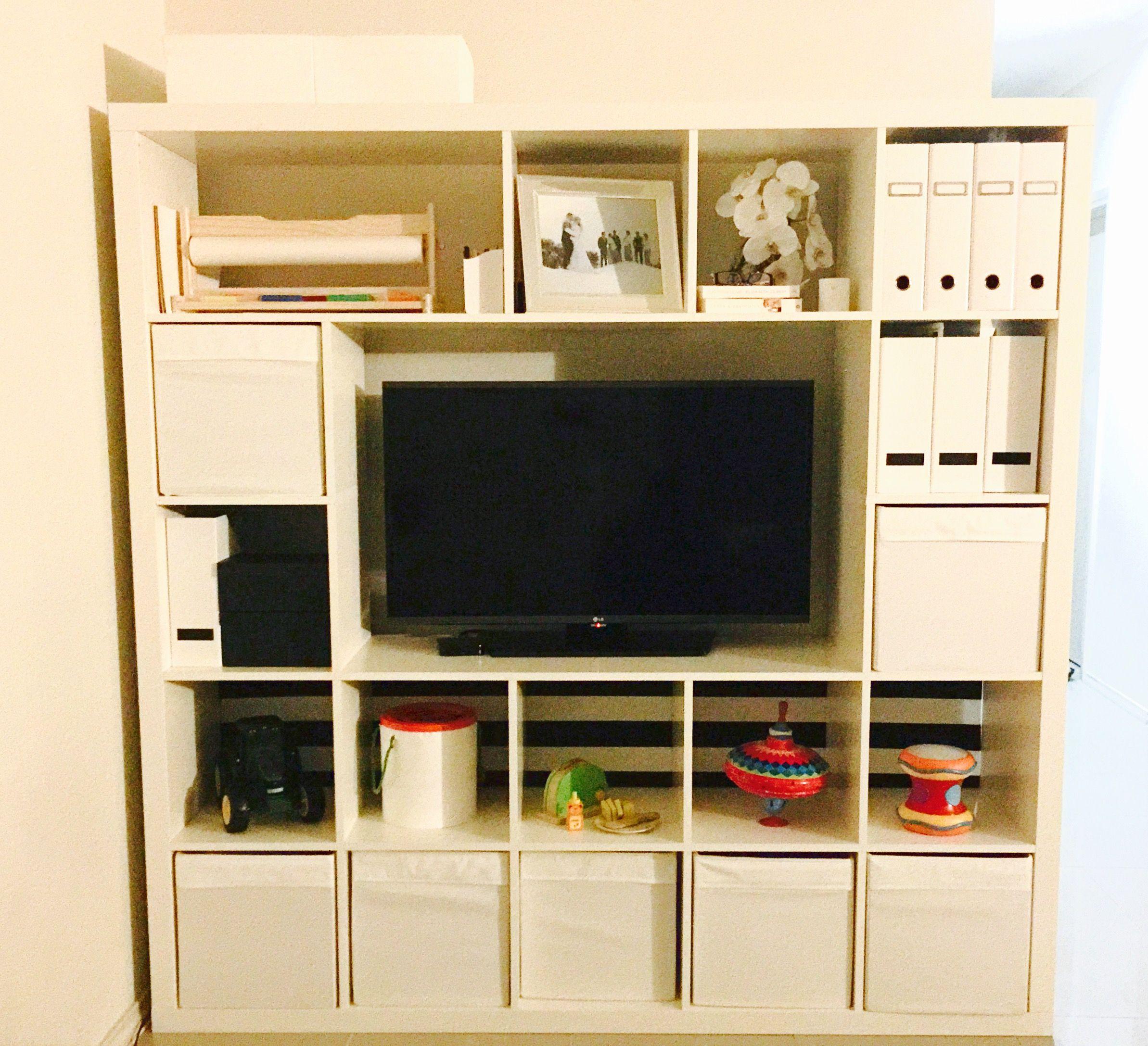 Ikea Hack 5 X 5 Expedit Kallax Shelves Minus A Few Pieces