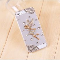 Transparent case look so fashion.  It seems to a beautiful angel flying below the rhinestone ring of stars.